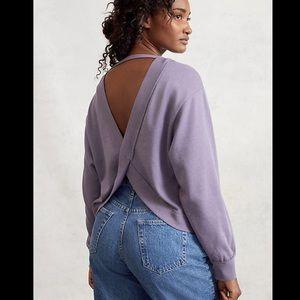 Anthropologie Pilcro Ryanne Open Back Sweatshirt M